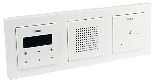 Gira Unterputz-Radio - Lautsprecher - Rahmen E2 - reinweiß glänzend + Bluetooth