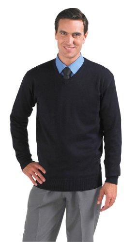Mens V Neck Sweater Galaxy Black
