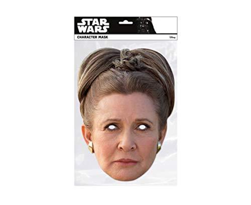 empireposter Star Wars - Prinzessin Leia - Papp Maske aus hochwertigem Glanzkarton mit Augenlöchern, Gummiband - Größe ca. 30x21 cm - Pappmaske, Prominentenmaske, Funmaske, Tiermaske