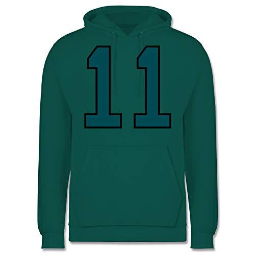 Shirtracer American Football - Football Philadelphia 11 - L - Türkis - JH001 - Herren Hoodie