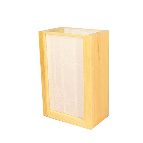 Moderne Minimalistische Tischlampe Solide Geometrische Holz Schreibtischlampe Chinesische Art PVC Lampenschirm Bett Krankenpflege Leseleuchte Für Hotel Schlafzimmer Wohnzimmer Studie, Φ20cm H30cm E27 (Konsole Chinesische)