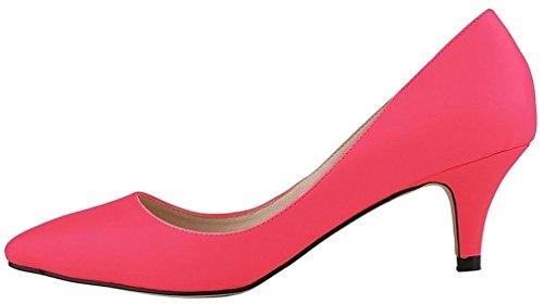 Calaier Femme Cahotel 3CM Aiguille Glisser Sur Escarpins Chaussures Rouge