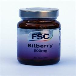 FSC Bilberry 500mg 30 tablet x 1