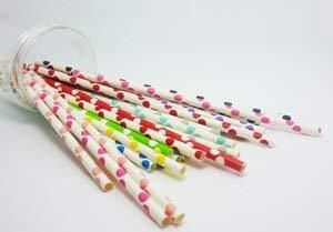 Party Shorts - 50 Pcs 2 Pack Colorful Big Polka Dot Pattern Paper Straws Biodegradable Drinking Wedding Party - Party Visors Drinkware Straw Women Shorts