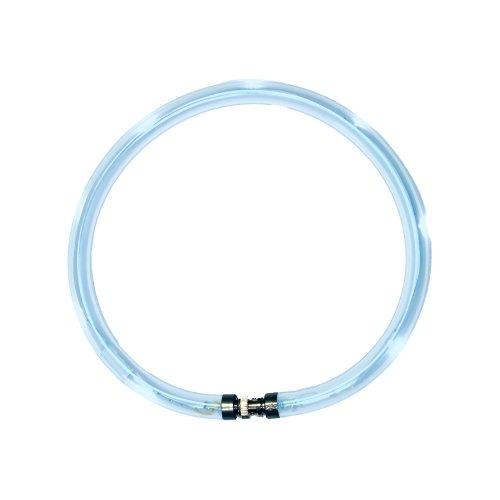 LumiVision Akku Leuchthalsband 40 cm Wiederaufladbares, wasserdichtes LED Leuchthalsband für Hunde blau