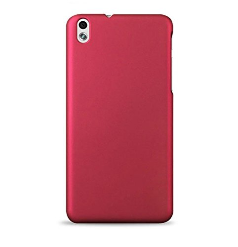 WOW Imagine(TM) Rubberised Matte Hard Case Back Cover For HTC DESIRE 816 / 816G (Maroon Wine Red)