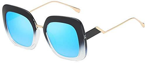 LAMAMAG Sonnenbrille Sommer Trendy Square Frame Sonnenbrille Frauen Berühmte Eyewear Black Crystal Elegante Große Brille, 9