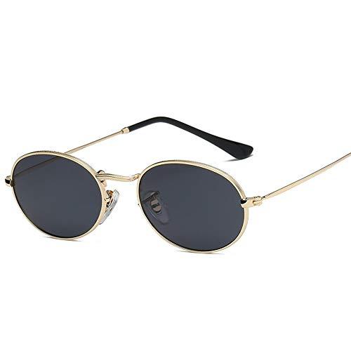 LAMAMAG Sonnenbrille Kleine Ovale Sonnenbrille Frauen Vintage Schwarz Rot Günstige Sonnenbrille Runde Metallrahmen Männer Uv Gafas De Sol, 2