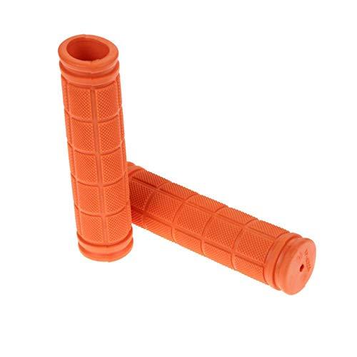 WOOAI 12 cm Gummi-Fahrrad Lenkergriffe Abdeckung BMX MTB Gebirgsfahrrad-Griffe Anti-Blockier-System für Fahrräder Lenkergriffe Fixed Gear Fahrradteile, orange