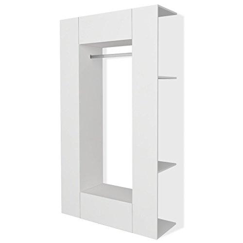 vidaXL Kleiderschrank Dielenschrank Wandschrank Garderobe 106x36,5x192 cm Weiß