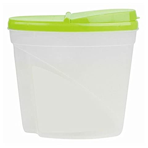 5L Dry Food Storage Container Large Plastic Box Cereal Dispenser Lid Pasta Snack Fresh Food Seed Dog Cat Pet Bakery Tub Can - Green