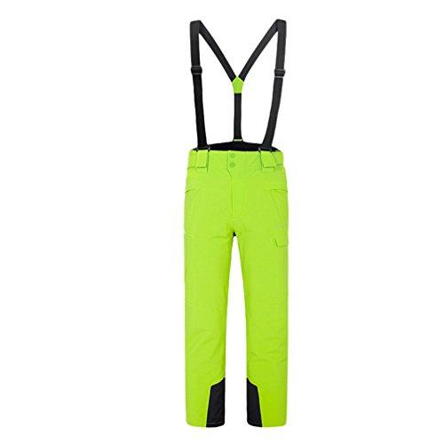 Yuncai Mode Candy Farbe Herren Skihose Draussen Warm Damen Schneehosen Winddicht Wasserdicht Gelb Grün M