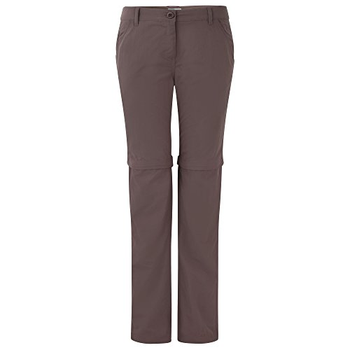 Craghoppers Womens/Ladies NosiLife Zip-Off Walking Trousers Cafe Au Lait