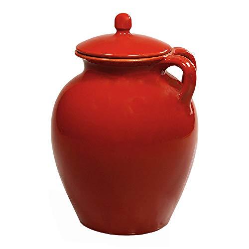 Pignata Rossa mit Deckel - Feuertopf aus Terrakotta 25 cm - by Colì
