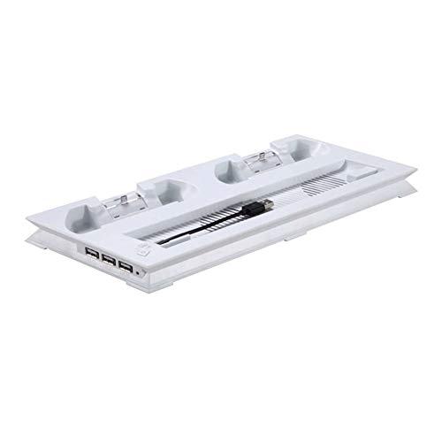 Stands vertikale Ladestation Kühler Konsolenhalterung Controller Lüfter Laden für PS4 Slim weiß Externe Stand