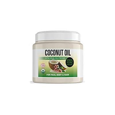 Aceite de coco extra virgen prensado en frío (para el cuerpo, pelo, uñas, cara y cutículas), leche hidratante de coco 100% Bio, 500ml