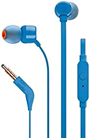 JBL T110 wired in-Ear Headphones Headset With a stunning user friendly design and Pure Bass sound, one button