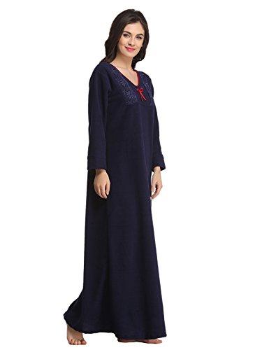 Clovia - Chemise de nuit - Femme Bleu - Bleu