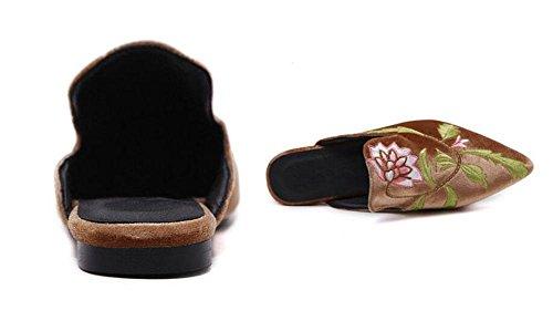 GLTER Femmes Chaussures Mules Chaussures à talons hauts Chaussures plates Chaussures à talons fermés Orange Noir Orange