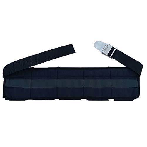 CUTICATE Polyester Tauchgürtel Tauchgurt mit Taschen für Tauchen, Schnorcheln, Speerfischen, Freitauchen - 5 Taschen