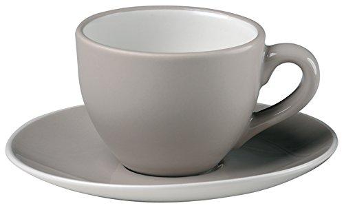 Bitossi Home BER251 Set De 6 tazas de café con platito, Línea Sorbetto, Regaliz