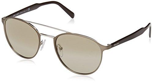 Prada Herren 0PR62TS VIX6O0 54 Sonnenbrille, Braun (Matte Light Silver/Brown Gold)