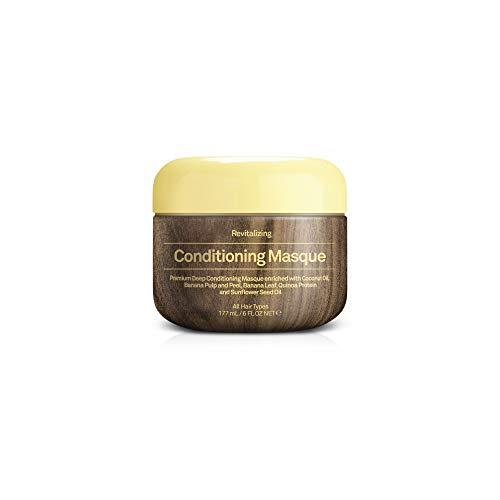 Sun Bum Beach Formula Revitalizing Deep Conditioning Hair Masque, 6 oz Tub, 1 Count, Hydrating Conditioner, Frizz Control, Paraben Free, Gluten Free, Vegan - Hydrating Masque