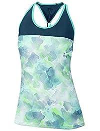 Wilson W SU Flora Print Knot Bk Tank WH/Co - Camiseta para mujer