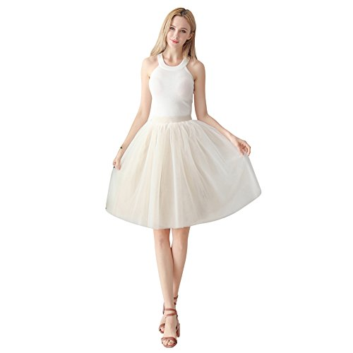 ShowYeu Women's A-line Petticoat Tulle Skirts Tutu for sale  Delivered anywhere in UK