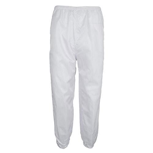 perfeclan Staubdicht Schutzanzug Hose Autoreparatur Berufsbekleidung Set Schützende Kleidung - Weiß