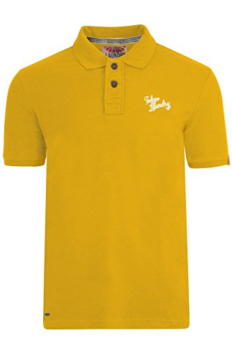Tokyo Laundry Herren Blusen Poloshirt, Einfarbig * Gr. Small, Yellow Iris (Iris Cotton Light)