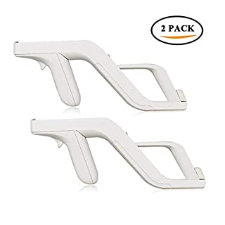 AndThere 2PCS Zapper Gun Compatible with Nintendo Wii Wireless Controller-Link Remote and Nunchuk for Shooting Games