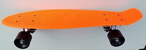 Retro-Stil - Penny Board - Orange,Deck aus Polypropylen-Maße (56x12 cm), ABEC 7 Metalllager ()