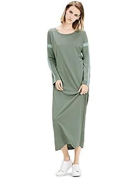 c4031f60c25e HXQ Puro Cotone Donna Pigiama Maniche lunghe Camicia da Notte Vestito