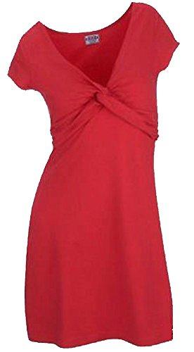 Kleid Shirtkleid in Wickeloptik Stretch rot 942215 (36/38)
