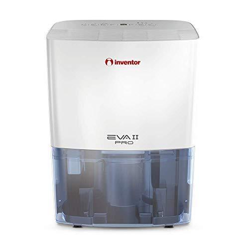 Inventor EVA II PRO ION, Deumidificatore Compatto Portatile, Ionizzatore, Deumidificazione Intelligente (capacità di deumidificazione 20L/24h), Asciugabiancheria, Basso Consumo Energetico.