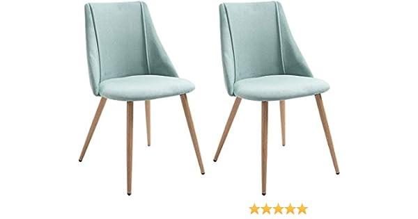 MEUBLE COSY chaise de bureau Stuhl, Holz, Grün, 52,5 x 49,5 x 83,5 cm