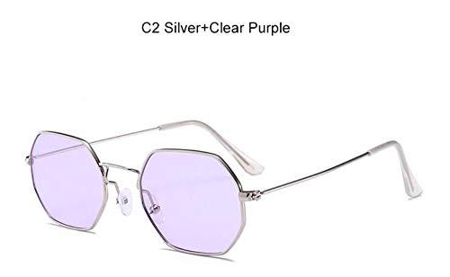 Sonnenbrille Transparente Sonnenbrillen Trendy Flache Linse Damen Sonnenbrille Square Designer Gold Dunklen Sonnenbrillen Männer Silber Lila