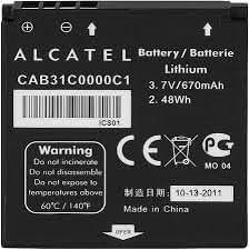 Batterie d'origine Alcatel CAB31C0000C1 peut remplacer la OT-BY23 Compatible Alcatel OT-606, Alcatel OT-606A, Alcatel OT-606C