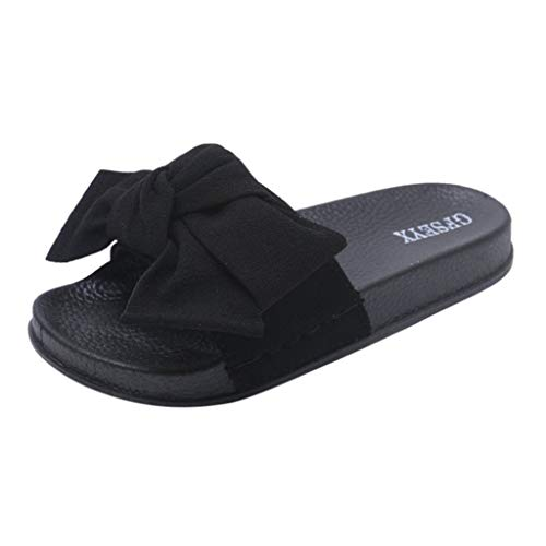 ☀NnuoeN☀ Scarpa Sandalo Donna - Ciabatta Estiva con Nodo Roma Donne Estate Farfalla-Nodo Pantofola Piatto Spiaggia Pantofole Open Toe Sandali