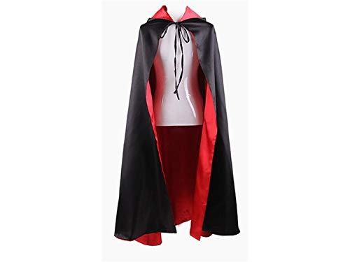 OH ED Gracioso Capa de Vampiro Creativa de Doble Capa Capa Larga de Demonio para Halloween Cosplay de Navidad (Rojo y Negro) para decoración