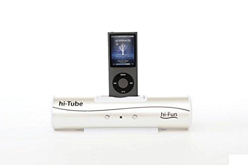 hi-Fun Hi-Tube, Cassa Stereo con Connettore Dock, Colore Argento