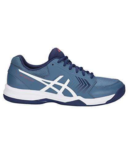 ASICS Herren Gel-Dedicate 5 Indoor Tennisschuhe, Blau (Azure/White 400), 41.5 EU