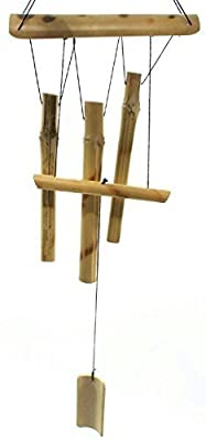 Roots & Shoots 63cm Bamboo Wind Chime Light Coloured Garden Ornament Decoration