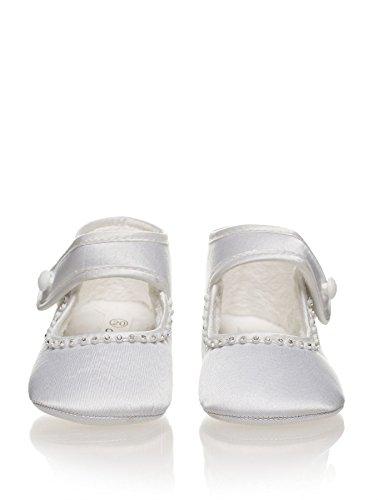 Sevva, Baby chaussures Filles, filles chaussures de baptême, Babies chaussures, Nourrisson 0 - 4 Blanc