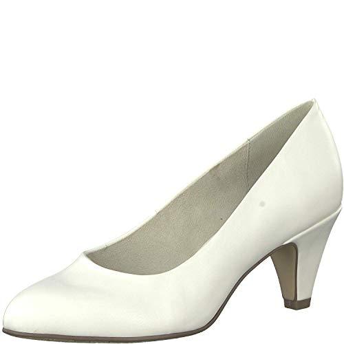 Tamaris Damen KlassischePumps 1-1-22416-22, Frauen Court-Shoes,Absatzschuhe,Abendschuhe,Stöckelschuhe,White MATT,38 EU / 5 UK