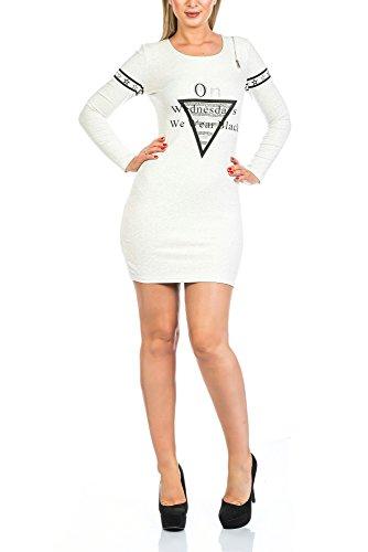 Elegantes Damen Top Kleid aus Paris in versch. Farben, Weiß, S / (Tanz Kostüme Techno)
