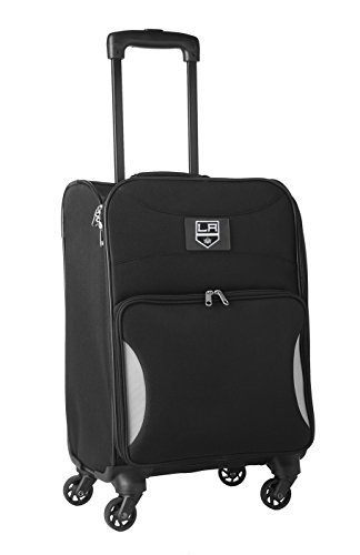 nhl-los-angeles-kings-lightweight-nimble-upright-carry-on-trolley-18-inch-black-by-nhl