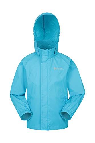 Mountain Warehouse Pakka wasserdichte Kinderjacke - 2 Taschen Kinderjacke, atmungsaktiv, packbare Regenjacke - Ideal zum Wandern Kobalt 164 (13 Jahre)