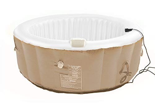 All Seasons Gazebos 2-4-round beige All 2-4 Personen 130 Air Jet Whirlpool/Spa in beige